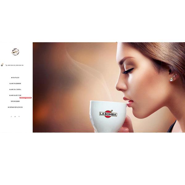 """Изработка и оптимизация на сайт за """"la bomba cafe"""""""