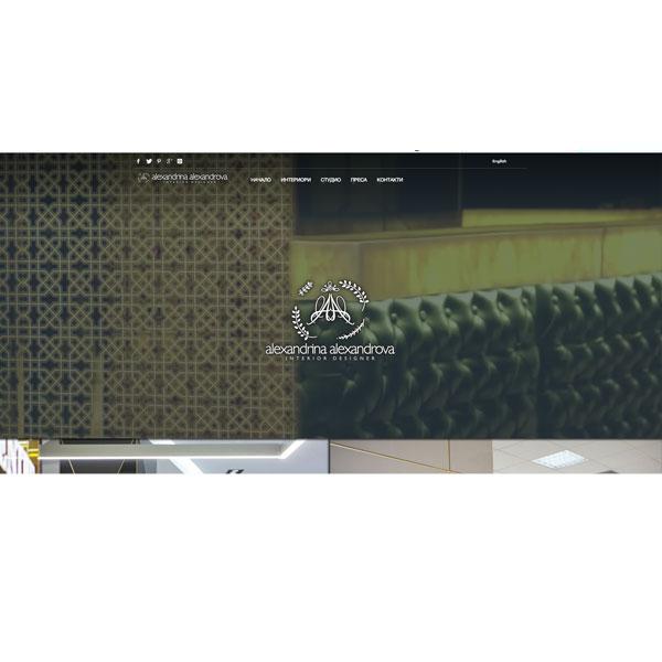 """Изработка и оптимизация на сайт за """"alexinterior"""""""