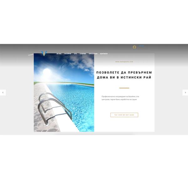 Изработка и оптимизация на сайт за ventapools