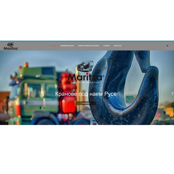 Изработка и оптимизация на сайт за Кран Марица