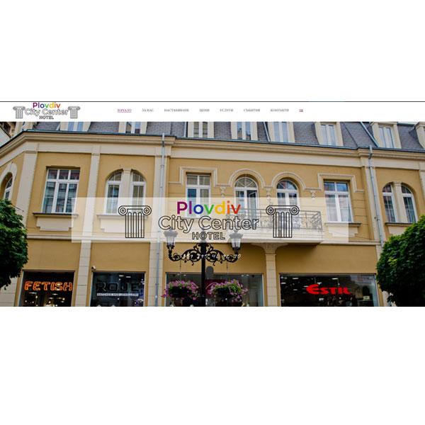 """Изработка и оптимизация на сайт за """"City Center Hotel"""