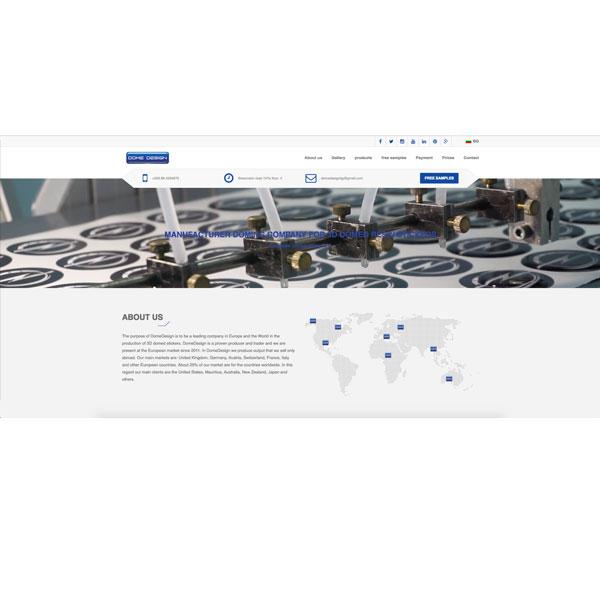 Изработка и оптимизация на сайт за DOMEDESIGN