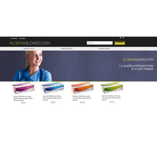 Изработка и оптимизация на сайт за AldenaGloves Франция